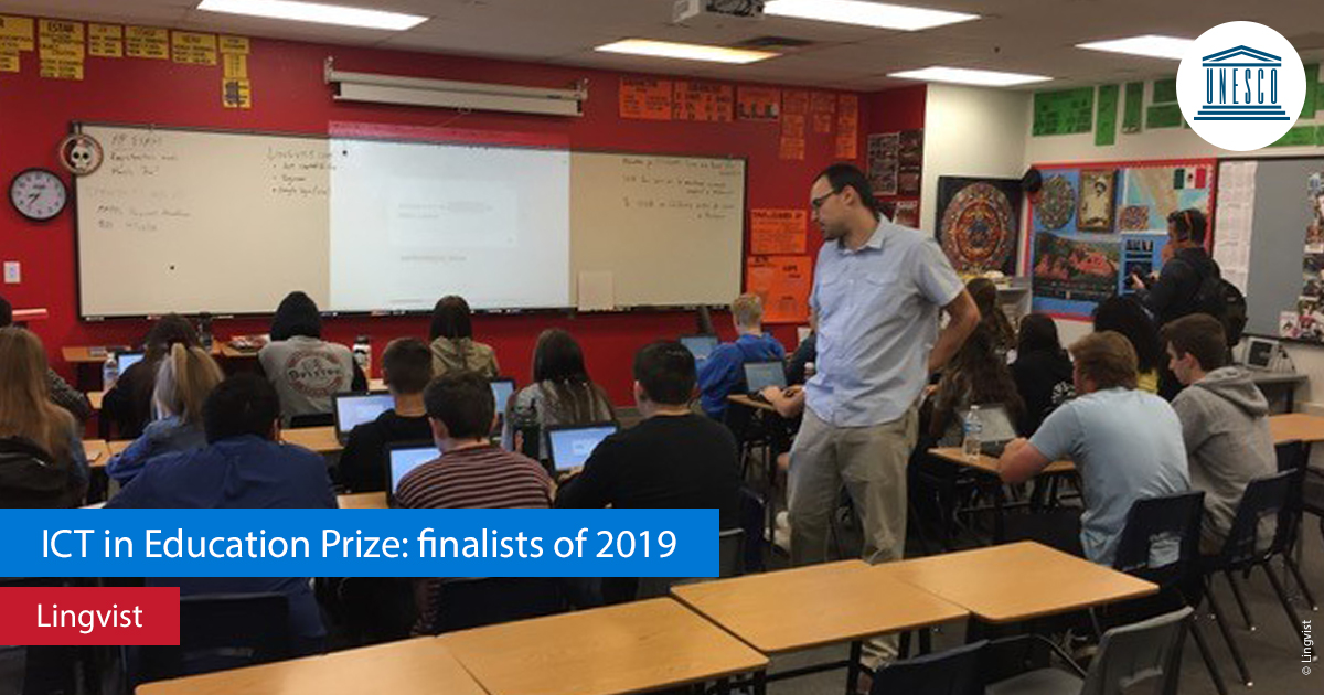 Lingvist is a finalist UNESCO 2019 ICT in Education prize