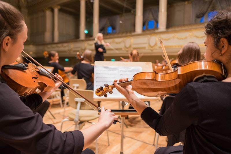 Orchestra playing